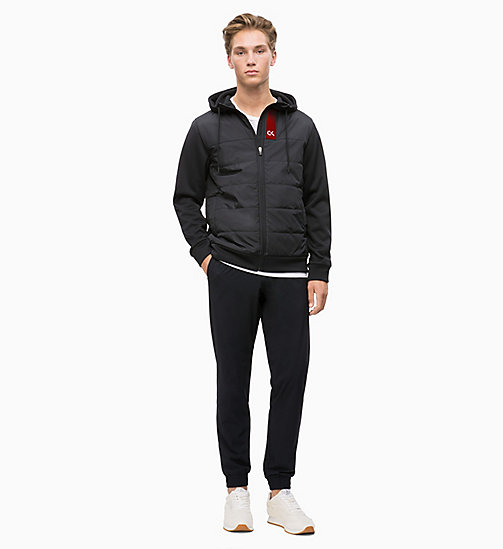 CALVIN KLEIN Padded Zip Through Hoodie - CK BLACK - CALVIN KLEIN NEW INS - detail image 1
