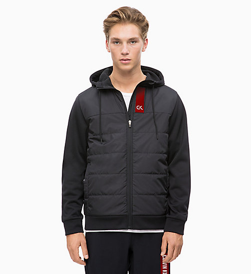 CALVIN KLEIN Padded Zip Through Hoodie - CK BLACK - CALVIN KLEIN NEW INS - main image