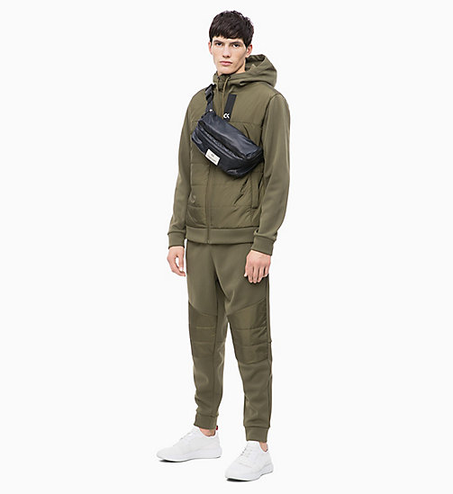 CALVIN KLEIN Padded Zip Through Hoodie - OLIVE NIGHT - CALVIN KLEIN NEW INS - detail image 1