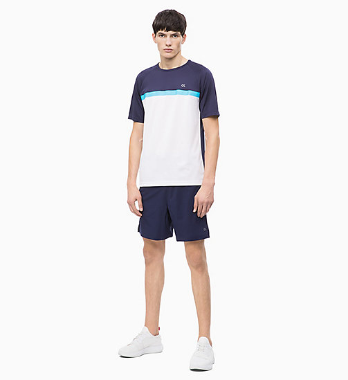 CALVIN KLEIN T-shirt - BIGHT WHITE/EVENING BLUE/CYAN BLUE - CALVIN KLEIN NEW INS - detail image 1