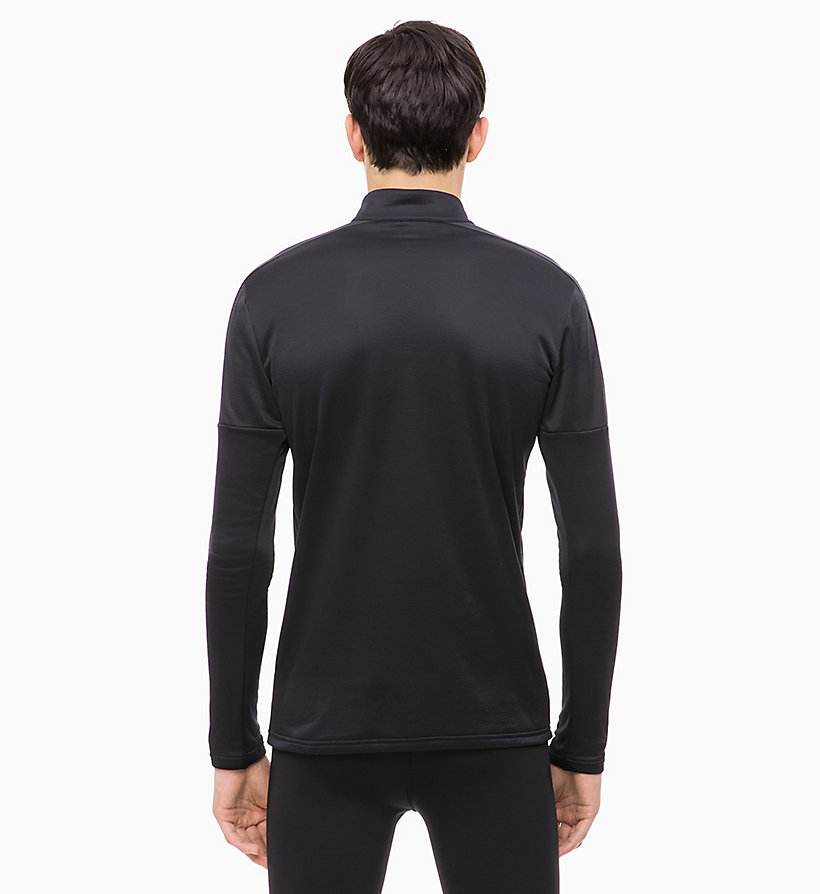 CALVIN KLEIN Long Sleeve Technical Top - BRIGHT WHITE - CALVIN KLEIN PERFORMANCE - detail image 1