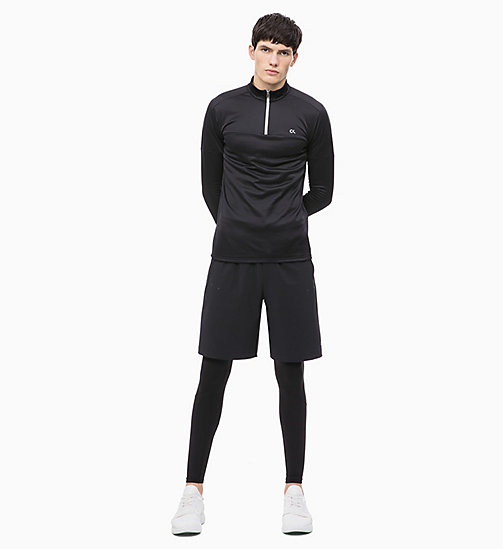 CALVIN KLEIN Long Sleeve Technical Top - CK BLACK - CALVIN KLEIN T-SHIRTS & TANK TOPS - detail image 1