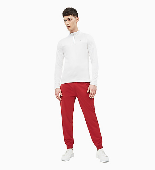 CALVIN KLEIN Long Sleeve Technical Top - BRIGHT WHITE - CALVIN KLEIN T-SHIRTS & TANK TOPS - detail image 1