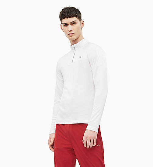 CALVIN KLEIN Long Sleeve Technical Top - BRIGHT WHITE - CALVIN KLEIN T-SHIRTS & TANK TOPS - main image