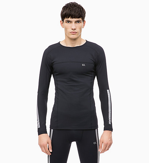 CALVIN KLEIN Compression Long Sleeve Top - CK BLACK - CALVIN KLEIN NEW IN - main image