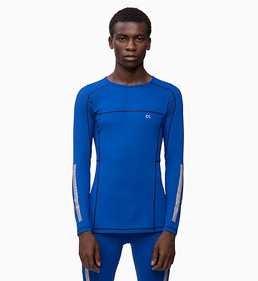 CALVIN KLEIN Compression Long Sleeve Top - MAZARINE BLUE - CALVIN KLEIN NEW FOR MEN - main image