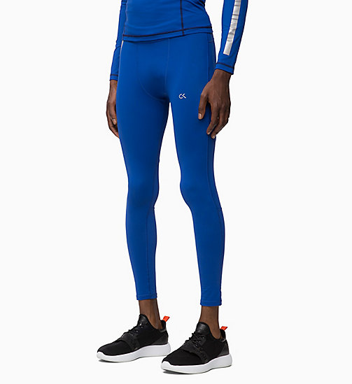 CALVIN KLEIN Compression Performance Tights - MAZARINE BLUE - CALVIN KLEIN NEW FOR MEN - main image