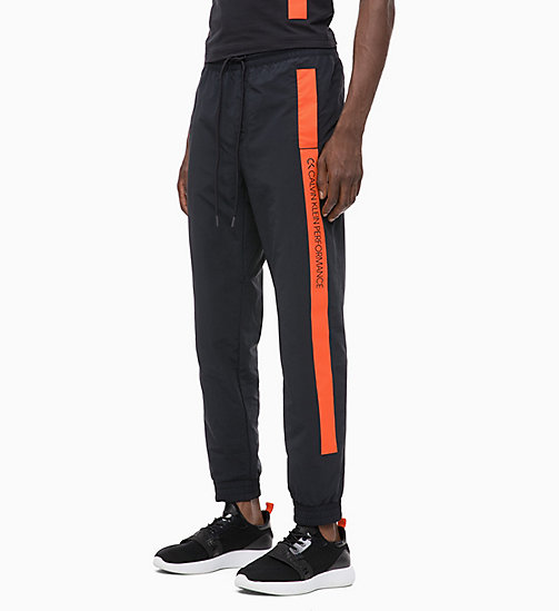 CALVIN KLEIN Tracksuit Bottoms - CK BLACK/CHERRY TOMATO - CALVIN KLEIN NEW FOR MEN - main image