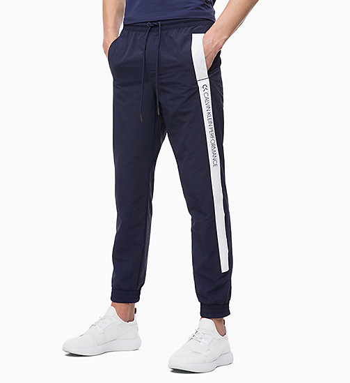 CALVIN KLEIN Tracksuit Bottoms - EVENING BLUE/BRIGHT WHITE - CALVIN KLEIN NEW FOR MEN - main image