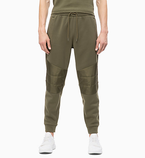 CALVIN KLEIN Padded Joggers - OLIVE NIGHT - CALVIN KLEIN NEW FOR MEN - main image