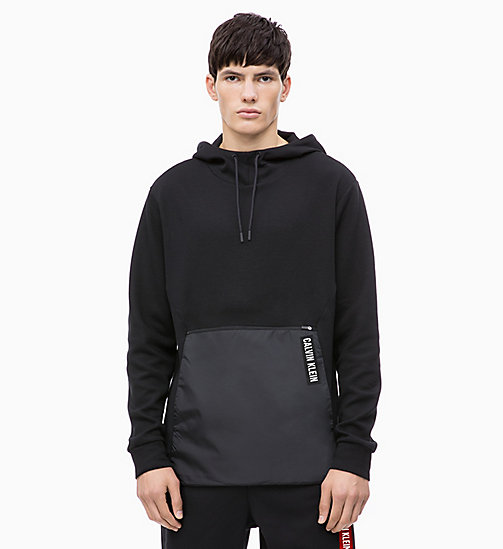 CALVIN KLEIN Pullover Hoodie - CK BLACK - CALVIN KLEIN NEW FOR MEN - main image