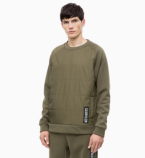 CALVIN KLEIN Padded Pullover - OLIVE NIGHT - CALVIN KLEIN NEW INS - main image