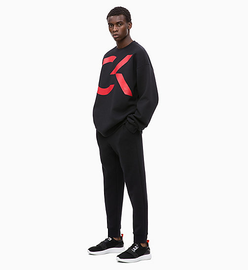 CALVIN KLEIN Logo Sweatshirt - CK BLACK/RACING RED - CALVIN KLEIN NEW INS - detail image 1