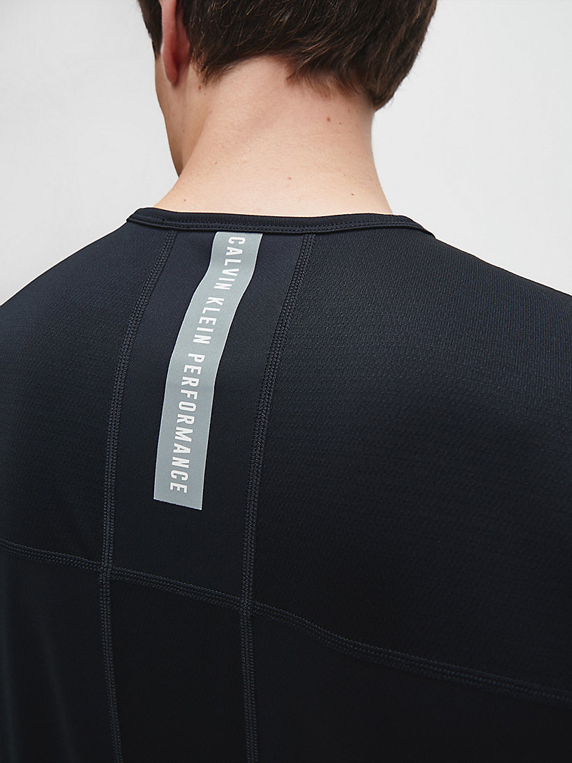 CALVINKLEIN Mesh Panel T-shirt - BRIGHT WHITE - CALVIN KLEIN PERFORMANCE - detail image 3