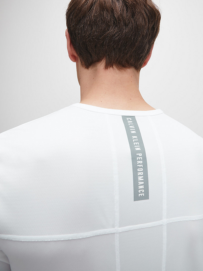 CALVINKLEIN Mesh Panel T-shirt - EVERGREEN - CALVIN KLEIN PERFORMANCE - detail image 3
