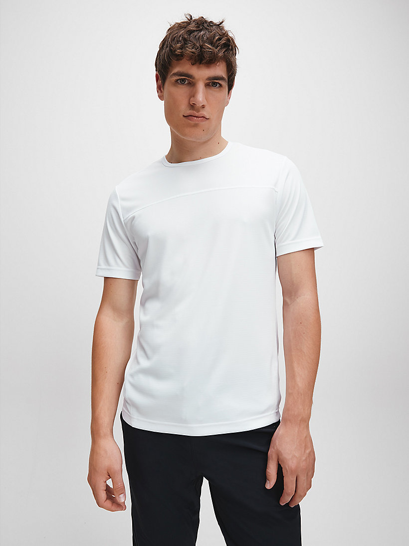 CALVINKLEIN Mesh Panel T-shirt - EVERGREEN - CALVIN KLEIN PERFORMANCE - main image
