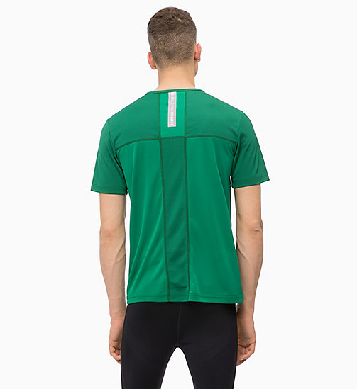 CALVINKLEIN Mesh Panel T-shirt - EVERGREEN - CALVIN KLEIN WORKOUT - detail image 1