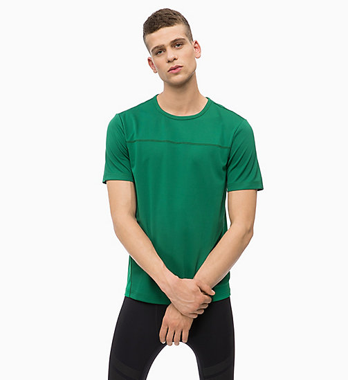CALVINKLEIN Mesh Panel T-shirt - EVERGREEN - CALVIN KLEIN WORKOUT - main image