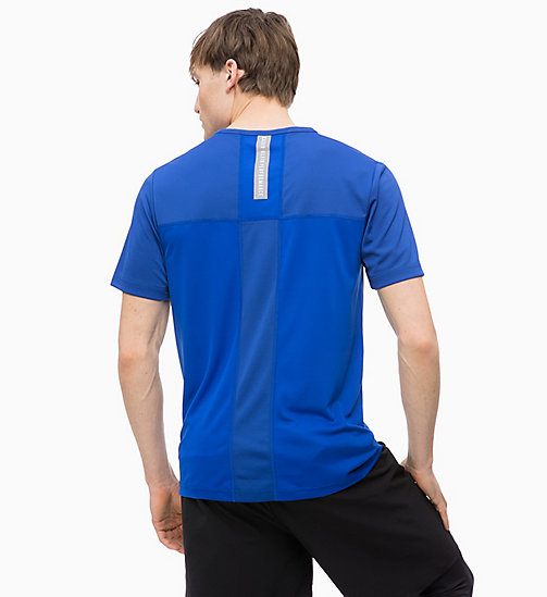 CALVINKLEIN Mesh Panel T-shirt - SURF THE WEB - CALVIN KLEIN WORKOUT - detail image 1