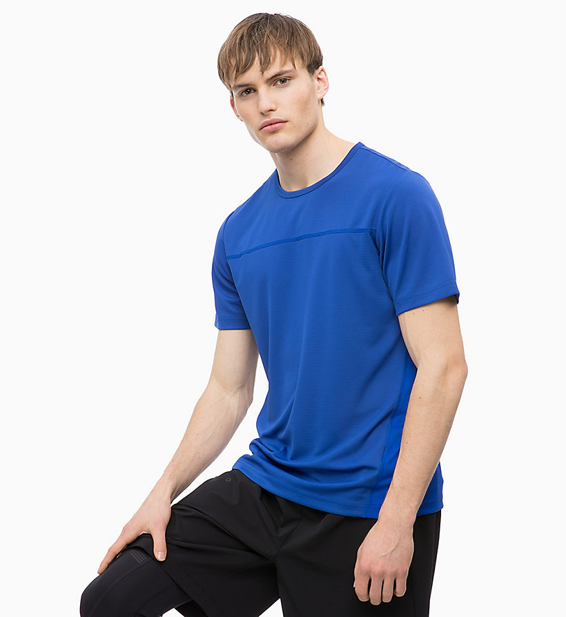 CALVINKLEIN Mesh Panel T-shirt - CK BLACK - CALVIN KLEIN PERFORMANCE - main image