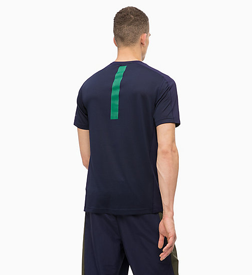 CALVINKLEIN Mesh Panel T-shirt - EVENING BLUE - CALVIN KLEIN SPORT - detail image 1