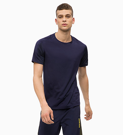 CALVINKLEIN Mesh Panel T-shirt - EVENING BLUE - CALVIN KLEIN WORKOUT - main image
