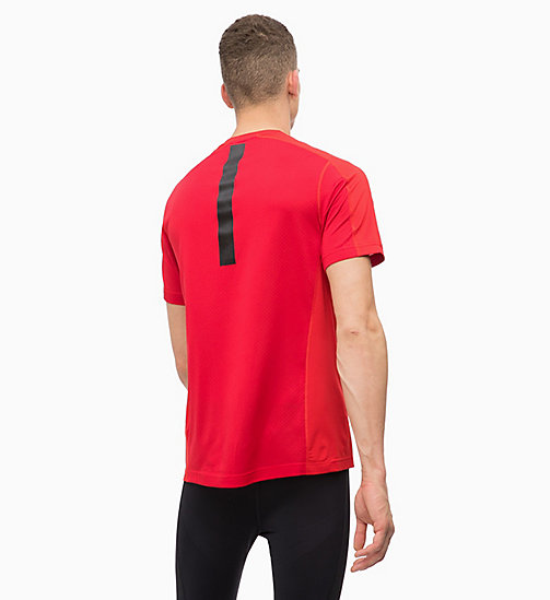 CALVINKLEIN Mesh Panel T-shirt - RACING RED - CALVIN KLEIN WORKOUT - detail image 1
