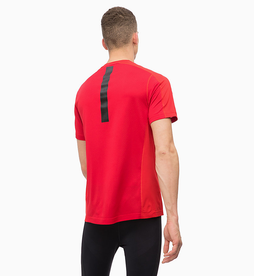 CALVINKLEIN Mesh Panel T-shirt - CK BLACK - CALVIN KLEIN PERFORMANCE - detail image 1