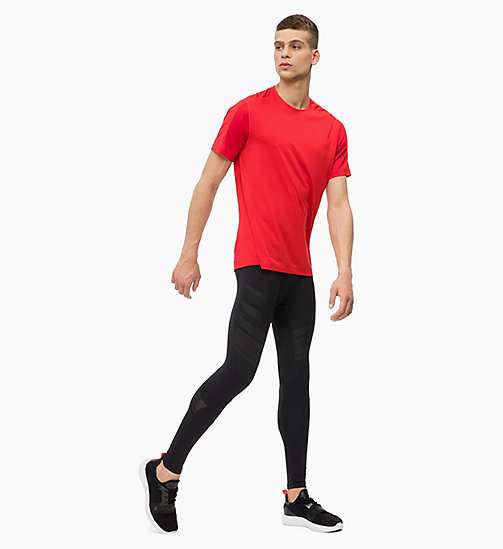 CALVIN KLEIN Mesh Panel T-shirt - RACING RED - CALVIN KLEIN SPORT - detail image 1