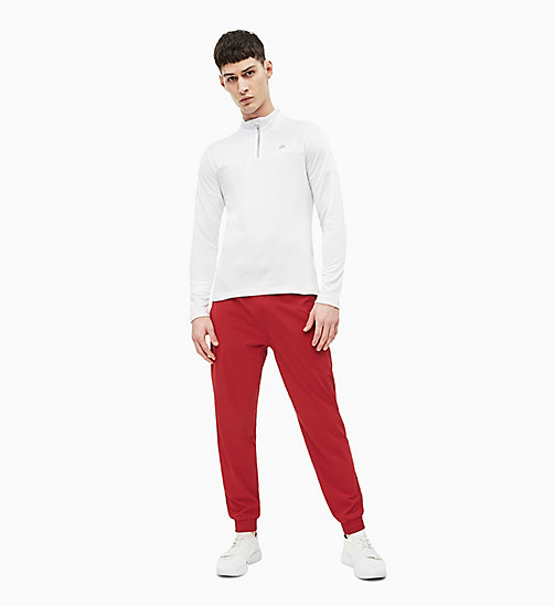 CALVIN KLEIN Tracksuit Bottoms - MERLOT - CALVIN KLEIN NEW FOR MEN - detail image 1
