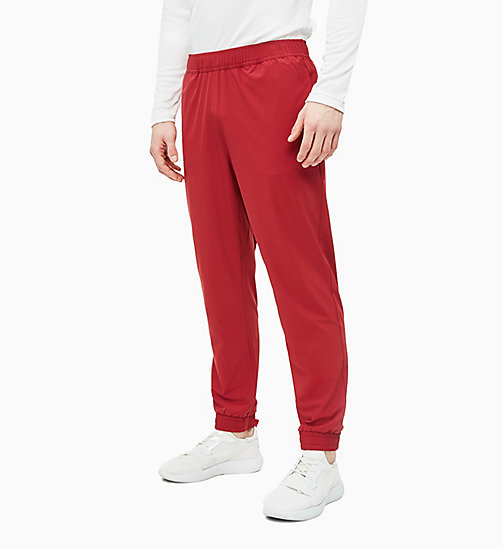 CALVIN KLEIN Tracksuit Bottoms - MERLOT - CALVIN KLEIN NEW FOR MEN - main image