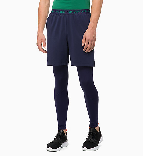 CALVIN KLEIN Shorts - EVENING BLUE/EVERGREEN - CALVIN KLEIN SPORT - main image