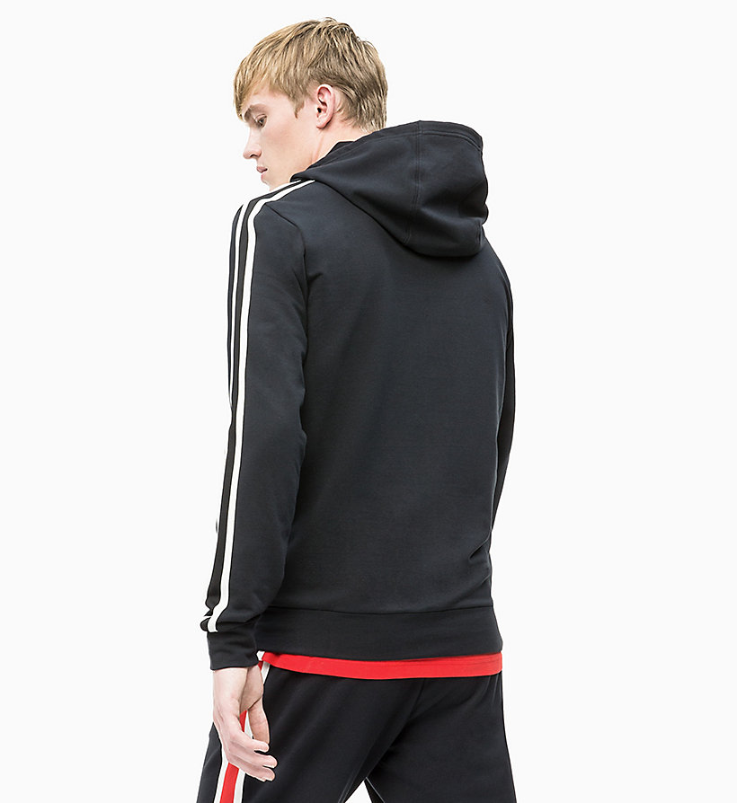 CALVIN KLEIN Zip Through Hoodie - GUNMETAL/WAX YELLOW/COCONUT MILK - CALVIN KLEIN PERFORMANCE - detail image 1