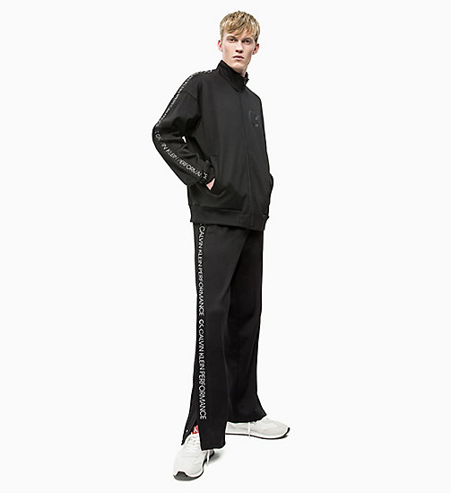 CALVIN KLEIN Zip Through Tracksuit Jacket - CK BLACK/COCONUT MILK - CALVIN KLEIN NEW INS - detail image 1
