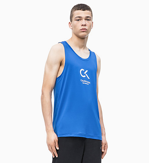 CALVIN KLEIN Logo Tank Top - NAUTICAL BLUE/BRIGHT WHITE - CALVIN KLEIN NEW INS - main image