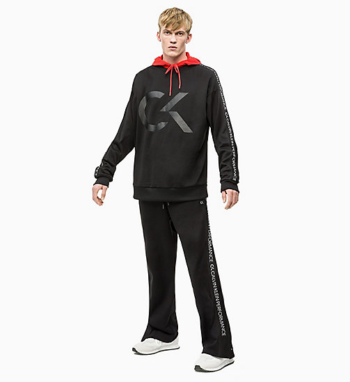 CALVIN KLEIN Tracksuit Bottoms - CK BLACK/COCONUT MILK - CALVIN KLEIN NEW INS - detail image 1