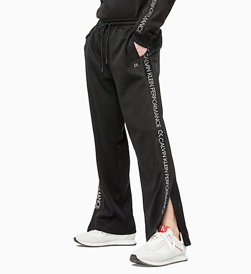 CALVIN KLEIN Tracksuit Bottoms - CK BLACK/COCONUT MILK - CALVIN KLEIN NEW INS - main image
