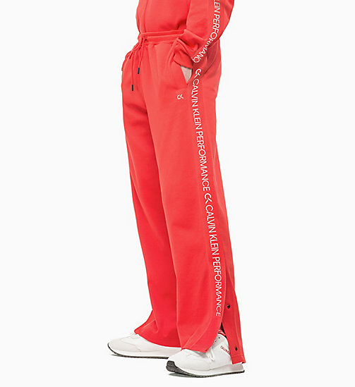 CALVIN KLEIN Tracksuit Bottoms - HIGH RISK RED/COCONUT MILK - CALVIN KLEIN NEW INS - main image