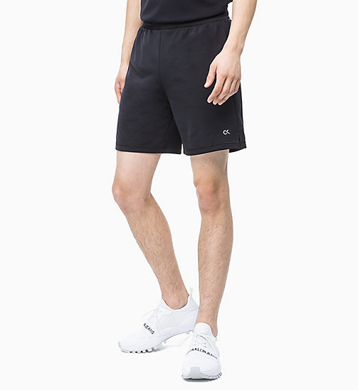 CALVIN KLEIN Mesh Panel Shorts - CK BLACK / BRIGHT WHITE - CALVIN KLEIN NEW INS - main image