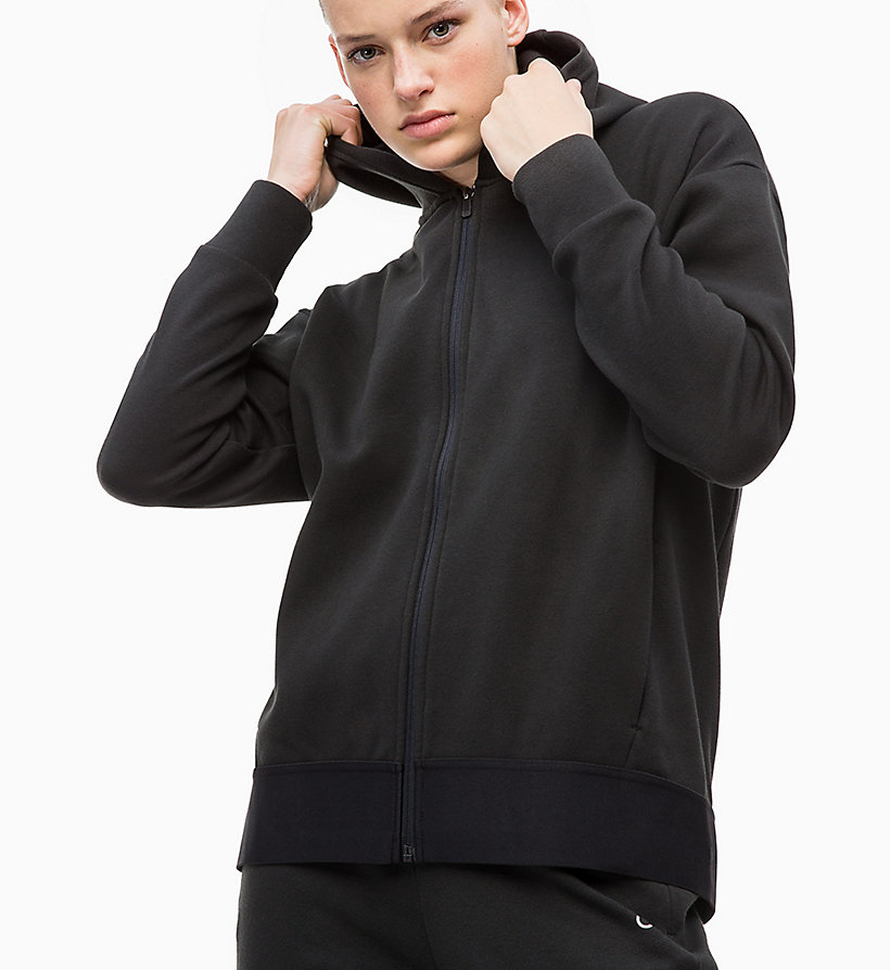 CALVIN KLEIN Zip Through Hoodie - FOREST NIGHT? - CALVIN KLEIN PERFORMANCE - detail image 2