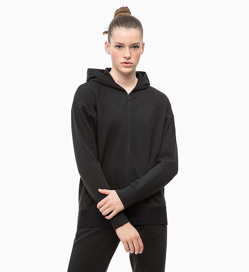 CALVIN KLEIN Zip Through Hoodie - FOREST NIGHT? - CALVIN KLEIN PERFORMANCE - detail image 4
