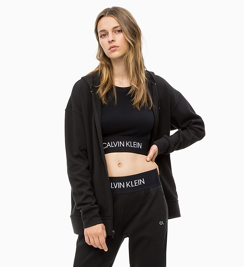 CALVIN KLEIN Zip Through Hoodie - FOREST NIGHT? - CALVIN KLEIN PERFORMANCE - main image