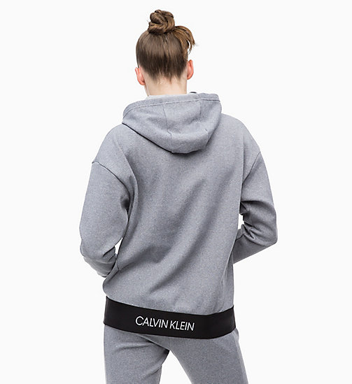 CALVINKLEIN Zip Through Hoodie - MEDIUM GREY HEATHER - CALVIN KLEIN NEW FOR WOMEN - detail image 1