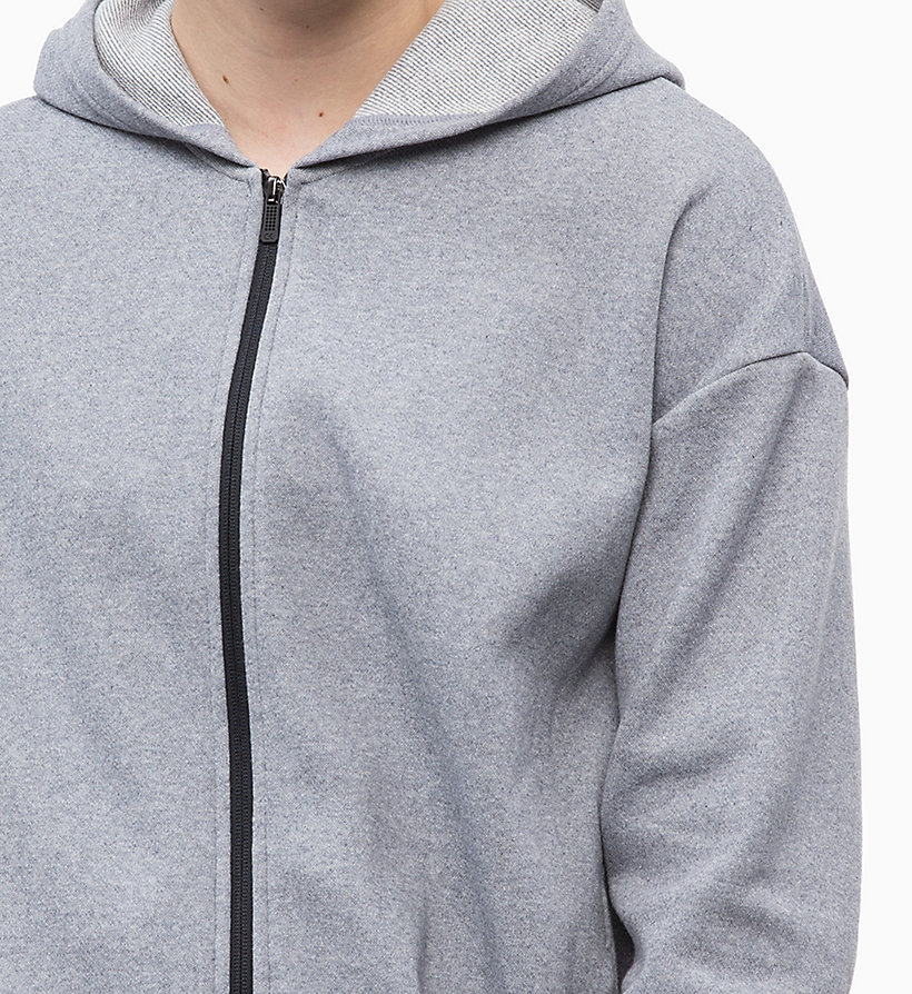 CALVIN KLEIN Zip Through Hoodie - CK BLACK - CALVIN KLEIN PERFORMANCE - detail image 2