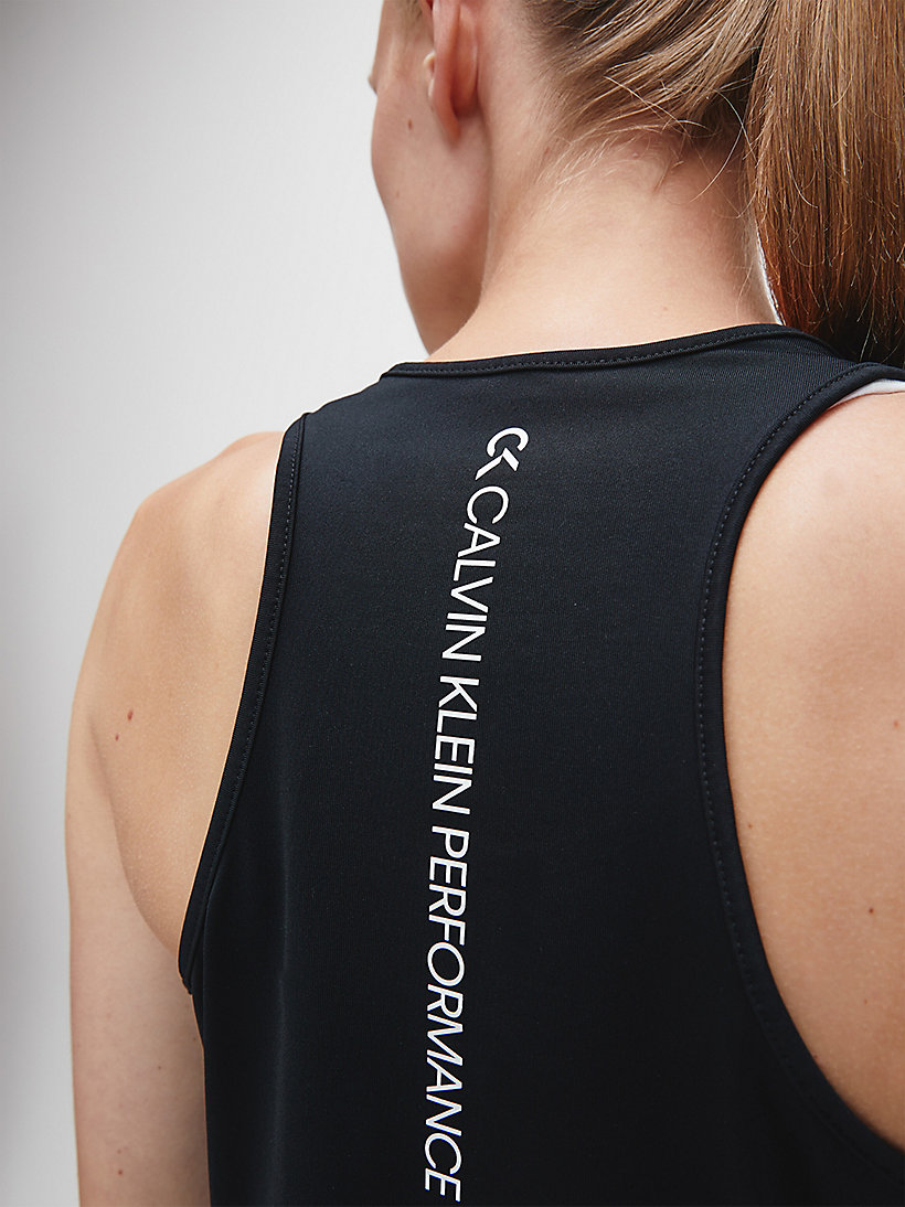 CALVINKLEIN Logo Tank Top - BRIGHT WHITE - CALVIN KLEIN PERFORMANCE - detail image 3