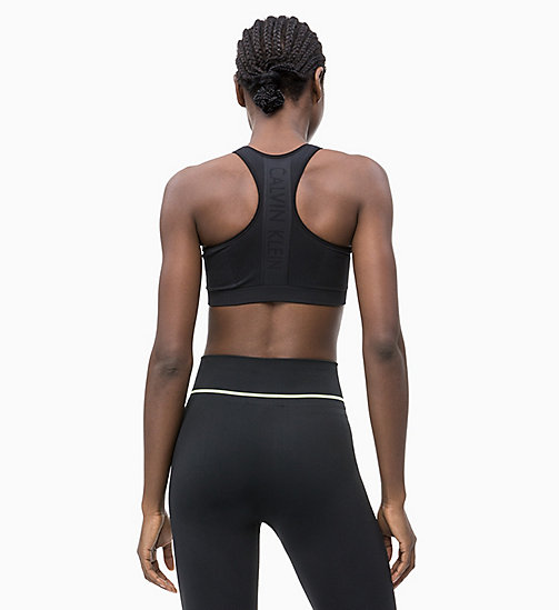 CALVINKLEIN Medium Impact Racerback Sports Bra - CK BLACK - CALVIN KLEIN SPORTS BRAS - detail image 1