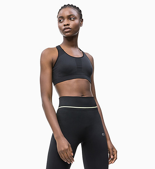 CALVINKLEIN Medium Impact Racerback Sports Bra - CK BLACK - CALVIN KLEIN SPORTS BRAS - main image