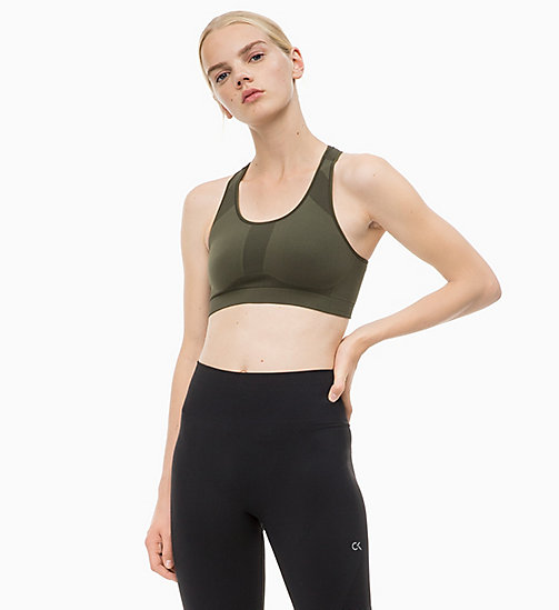 CALVIN KLEIN Medium Impact Racerback Sports Bra - FOREST NIGHT? - CALVIN KLEIN SPORT - detail image 1