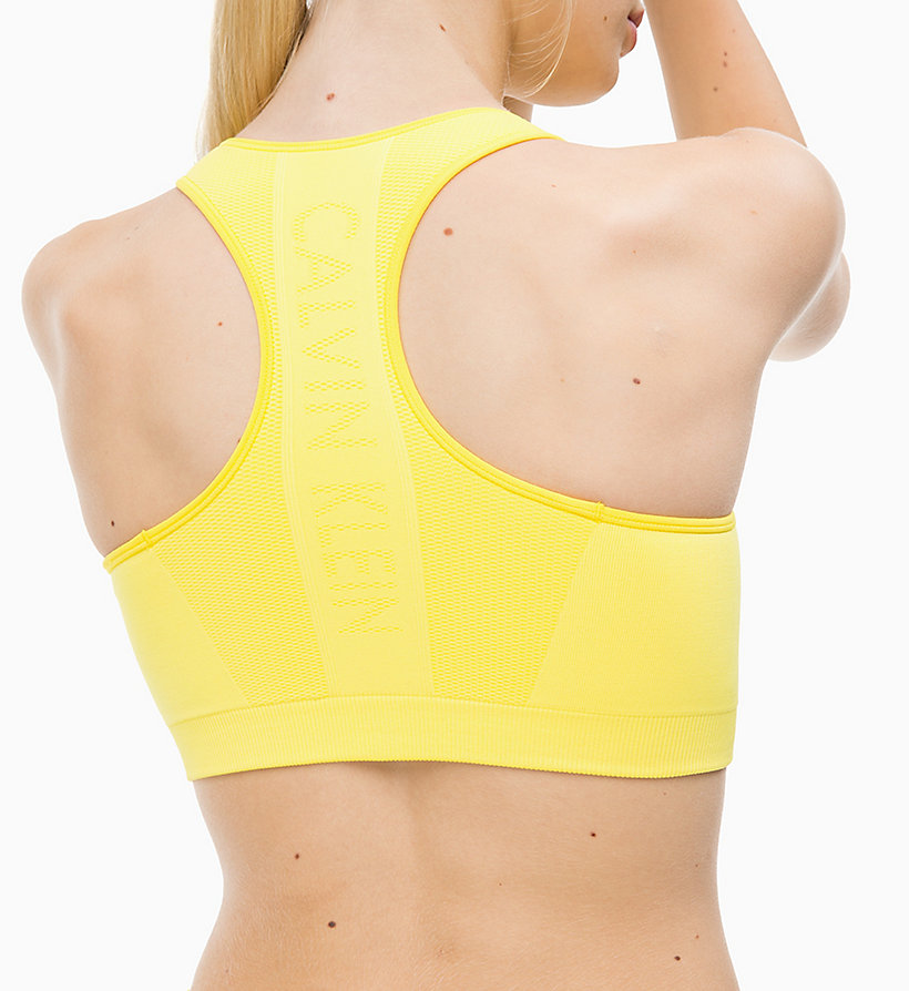 CALVINKLEIN Medium Impact Racerback Sports Bra - CK BLACK - CALVIN KLEIN PERFORMANCE - detail image 2