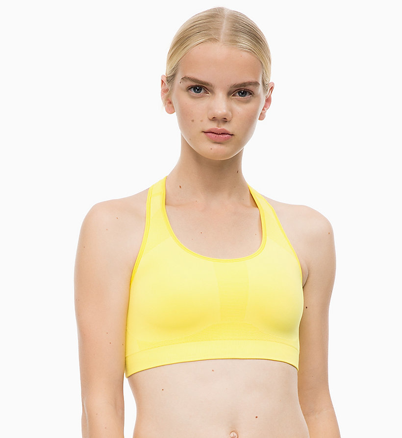 CALVINKLEIN Medium Impact Racerback Sports Bra - CK BLACK - CALVIN KLEIN PERFORMANCE - main image
